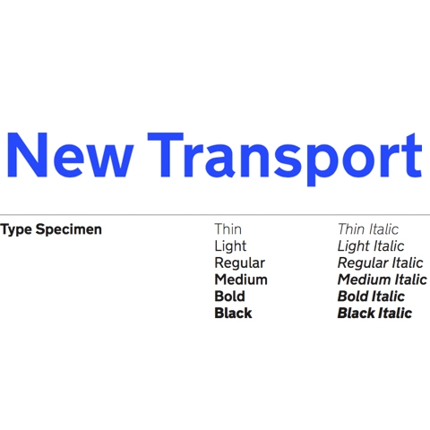 New Transport Font by Margaret Calvert and Henrik Kubel
